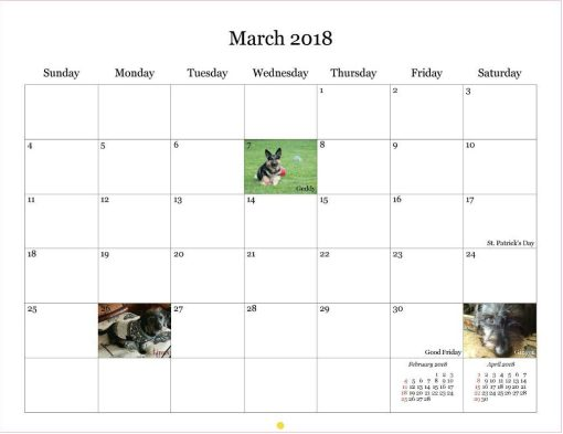 March 2018 - Days